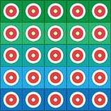 Geometric pattern. Abstract geometric pattern on blue-green background stock illustration