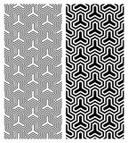 Geometric Pattern. A texture in classic black and white. Can be tiled seamlessly royalty free illustration