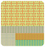 Geometric Pattern. Seamless Geometric Pattern set of 5 different colour variations Royalty Free Stock Photo