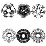 Geometric pattern astrology symmetry Stock Images