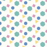 Color geometric four shapes pattern background. vector illustration