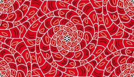 Geometric seamless pattern background. Red color, spirals. royalty free illustration