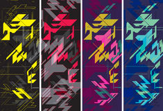 Geometric pattern background. For use as business card, banner, design for snowboard or skateboard of fashion design Royalty Free Stock Photos