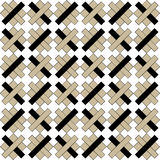 Geometric pattern with beige and black rectangles on white background Stock Photos