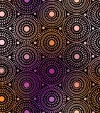 Geometric pattern on black background Royalty Free Stock Photo