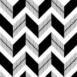 Geometric pattern of black and striped rhombuses on white background. Royalty Free Stock Photography