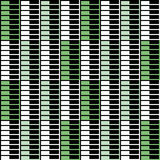 Geometric pattern with black white and green rectangles Royalty Free Stock Photo