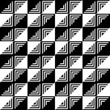 The geometric pattern of black and white triangles. The geometric pattern of black and white and striped triangles Stock Photography