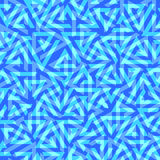 Geometric pattern on a blue background. Royalty Free Stock Image