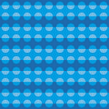 Geometric pattern with blue circular shapes Royalty Free Stock Photo