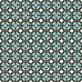 Geometric pattern. With blue elements Stock Photography