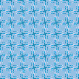 Geometric pattern with blue squares and rectangles pixel effect Stock Photo