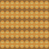 Geometric pattern with brown and orange circular shapes Stock Images