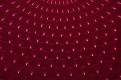 Geometric pattern on circular top of modern building Stock Photos