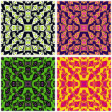 Geometric pattern collection on a white background Stock Image