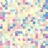 Geometric pattern of color square and triangle. S Stock Photography