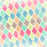 Geometric pattern with colorful rombs. Abstract geometric pattern with colorful rombs on grunge Stock Image