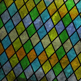 Geometric pattern with colorful rombs. Abstract geometric pattern with colorful rombs on grunge Royalty Free Stock Images