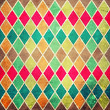 Geometric pattern with colorful rombs. Abstract geometric pattern with colorful rombs on grunge Stock Photography