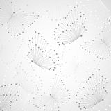Geometric pattern with connected lines and dots. Royalty Free Stock Photography