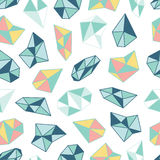 Geometric pattern with crystals in polygon style. Royalty Free Stock Photos