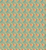 Geometric pattern of cubes in art deco style Royalty Free Stock Photo
