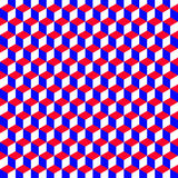 A geometric pattern with cubes that are the colors of the Americ. A geometric pattern with cubes that are the patriotic colors of the American flag. Can be used Royalty Free Stock Images