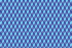 Geometric pattern cubes. Geometric pattern of rhombs in different shades of blue Royalty Free Stock Image