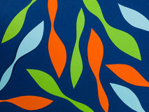 Geometric Pattern of Curves Shapes Against a Blue Background Royalty Free Stock Photos