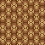 Geometric pattern with dark and light brown circles Royalty Free Stock Images