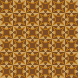 Geometric pattern with dark and light brown shapes Royalty Free Stock Photography