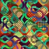 Geometric pattern on diagonal squares backgound Royalty Free Stock Photo