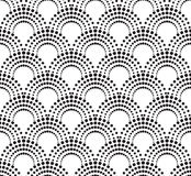 Geometric pattern with dotted arches. Vector illustration vector illustration