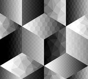 Geometric pattern fron cubes with different Stock Photo