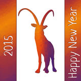 Geometric pattern goat for new year Royalty Free Stock Photos