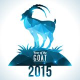 Geometric pattern goat. Vector illustration. Chinese astrological sign Stock Photography