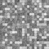 Geometric pattern of gray squares and triangles. Monocrome background Royalty Free Stock Photo