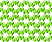 Geometric pattern of green colors isolated on white background, arranged in star shapes- Vector illustration, EPS10. Use as background, backdrop, image montage Royalty Free Stock Photo