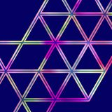 Geometric pattern with a grid of colorful triangles Stock Photos