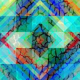 Geometric pattern with grunge effect Stock Images