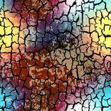 Geometric pattern with grunge effect Stock Photography