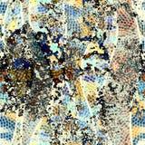 Geometric pattern with grunge effect. Stock Image
