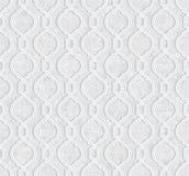 Geometric Pattern with Grunge Light Grey Background stock illustration