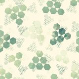 Geometric pattern of hexagon triangle Royalty Free Stock Photos