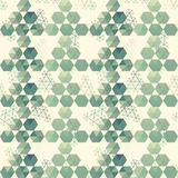 Geometric pattern of hexagon triangle Stock Image