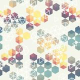 Geometric pattern of hexagon triangle Stock Photography