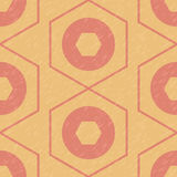 Geometric pattern of hexagons and circles Royalty Free Stock Photography