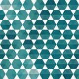 Geometric pattern of hexagons triangles Royalty Free Stock Photos