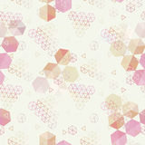 Geometric pattern of hexagons triangles Stock Photography