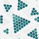 Geometric pattern of hexagons triangles Stock Image